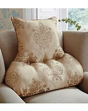 Generously filled Damask French Champagne Beige back support chair Cushion