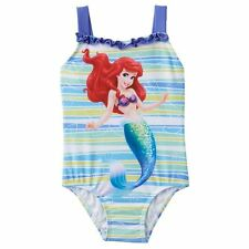 Disney Princess Ariel The Little Mermaid Toddler Girls One Piece Swimsuit 2T NWT