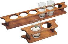 Glashalter Teak Holz 1 Glas/Flasche Bootszubehör Yacht Boot Halterung 140mm