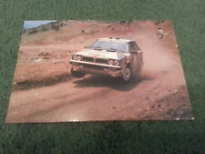 1986 1987 LANCIA DELTA HF 4WD Argentina RALLY CAR UK SMALL POST CARD - BROCHURE