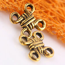 F0101_a*60Pcs Antique Gold Tone Chinese Knots Connector Charm Findings For Links