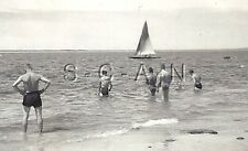 WWII German RP- Army Soldier- Semi Nude- Gay Interest- Beach- Sailboat