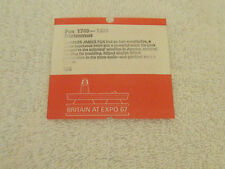 "Honored Person Charles Fox Britain Pavilion Montreal ""Expo 67 Brochure"