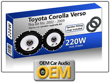 "Toyota Corolla Verso Front Door speakers Alpine 6.5"" 17cm car speaker kit 220W"