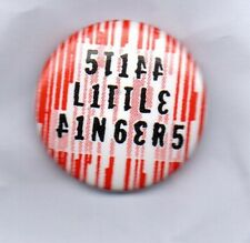 STIFF LITTLE FINGERS Button Badge IRISH PUNK ROCK BAND - NOBODY'S HEROES 25mm