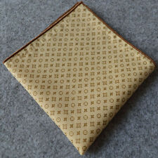 Luxury Gold Patterned Dots Pocket Square Cotton Men Handkerchiefs Hanky Handmade