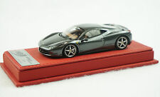 1/43 BBR FERRARI 458 ITALIA SILVERSTONE GREY RED DELUXE LEATHER LIMITED 5 PCS MR