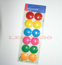 12 plastic whiteboard magnetic button fridge magnet buttons 3cm #809