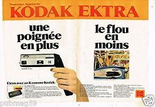 Publicité advertising 1978 (2 pages) Appareil Photo Kodak Ektra