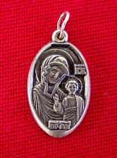 Old Russian Silver ICON Mother Of God, Sterling Pendant Russia