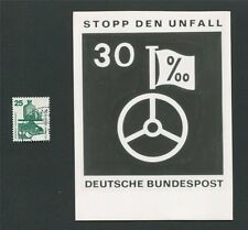 BUND FOTO-ESSAY 697 DAUERSERIE UNFALL 1971 PHOTO-ESSAY PROOF RARE!! e15