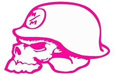"METAL MULISHA OUTLINE Car Decal/Sticker, HOT PINK, 7.5"" x 5.2"""