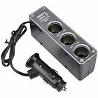 12v 3 Way Car Cigarette Lighter Power Socket Charger Adapter & USB Port Chargers