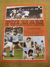 29/12/1979 Fulham v Sunderland  . Item appears to be in good condition unless pr