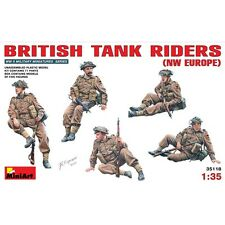 PLASTIC FIGURES BRITISH TANK RIDERS, NW EUROPE 1/35 MINIART 35118