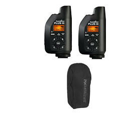 NEW 2 PocketWizard 801-130 Plus III Transceiver for Camera with Carrying Bag KIt