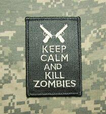 KEEP CALM AND & KILL ZOMBIES USA ACU LIGHT VELCRO® BRAND FASTENER MORALE PATCH