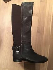 Attimo Brown Leather Knee High Boots New Size 41