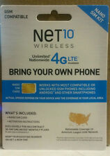 Net 10 Pre-Paid AT&T 4G LTE Compatible Nano Sim Card NEW Free Shipping