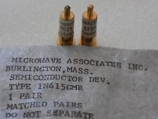 1N415GMR pair of 2 Matched Gold Slug Microwave Associates M/A Com Mixer Diodes
