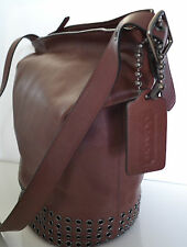 COACH Bleecker Large Leather Grommet Duffel Brick Brown F32392 NWT & Dust Bag
