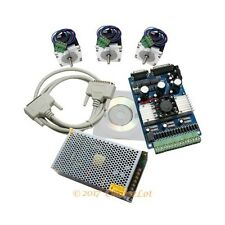 3 Axis 3A Stepper Controller Cnc Kit Nema23 24V Psu For Milling Machine
