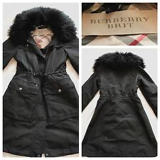 Burberry Coat Jacket Parka Trench Raincoat Casual Black UK 8 | BURBERRY BRIT
