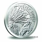 1 OZ SILVER COIN *NEVER TRUST GOVERNMENT* TRIVIUM INDIAN SILVER SHIELD SBSS .999