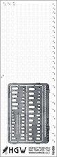 482020 Remaches + PE Cortado HGW plantilla-Oval plantillas (Plus) 1/48