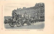 B85857 the prince of wales going to a drawing room chariot  royalty  london uk