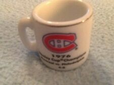 NHL STANLEY CUP CRAZY MINI MUG MONTREAL CANADIANS 1976 CHAMPS W/OPPONENT &SCORE