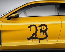 Numeri Corsa Graffiti 04. Personalizzata Auto Vinile Porta Adesivo. TRACK tracce di trasferimento.
