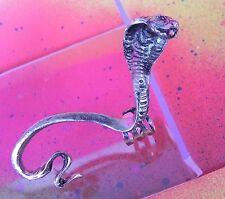 Snake COBRA Silver or Gold Gothic Full Body Ear Cuff Wrap Earring Punk Gothic