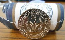 2011 International Year of Volunteers 20c Coin UNC Superb EX Security Roll
