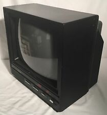 "Vintage CROWN JAPAN 13"" CRT Color TV Tested & Working Retro Gaming Television"