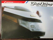 BROCHURE CATALOGUE 1991 MOTO HONDA GOLDWING GL 1500  TYPE F