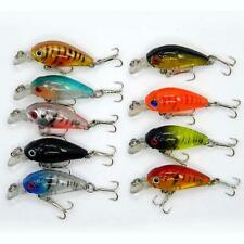 Lot 5pcs Kinds of Fishing Lures Crankbaits Fish Hooks Minnow Baits Tackle New TL