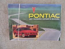 1991 Pontiac Sunbird Auto Owner Manual GM Maintenance Driving Service Care R