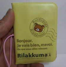 Rilakkuma Bonjour PVC Name Business Card Credit Card Holder Yellow