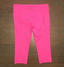 Under Armour Cold Gear Compression Capri Legging Woman's Size S Pink