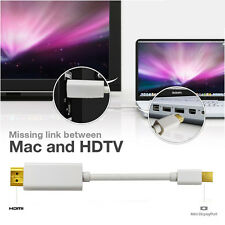 6ft High speed Mini DisplayPort to HDMI TV Monitor Audio Cable 1080P for MacBook