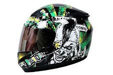Thh Full Face Helmet T-76 Black Green Riots
