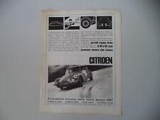 advertising Pubblicità 1967 CITROEN ID e DS 21