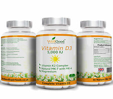 Vitamin K2 200mg with Vitamin D3 Lanolin 5000IU + Magnesium Bis-Glycinate 60 cap
