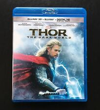 Marvel THOR: The Dark World 3D Blu-ray & Blu-ray 2 Disc Set (2014) Like New!