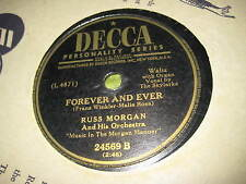 78 RPM Original Vintage RUSS MORGAN ORCHESTRA Forever and Ever You Are The One