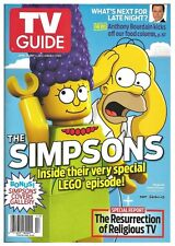 2014 TV Guide Simpsons Lego Episode Homer Marge Cover!