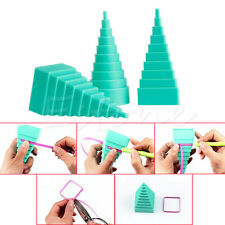 3X Blue Paper Quilling Border Buddy Bobbin Tower Quilled Craft DIY Tool Kit Set