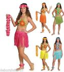 Womens Hawaiian Fancy Dress Hawaiian Skirt Head Wrist Neck Lei 8 - 18