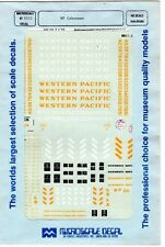 WP Cabooses Microscale 87-0212 Decal HO Scale Railroad